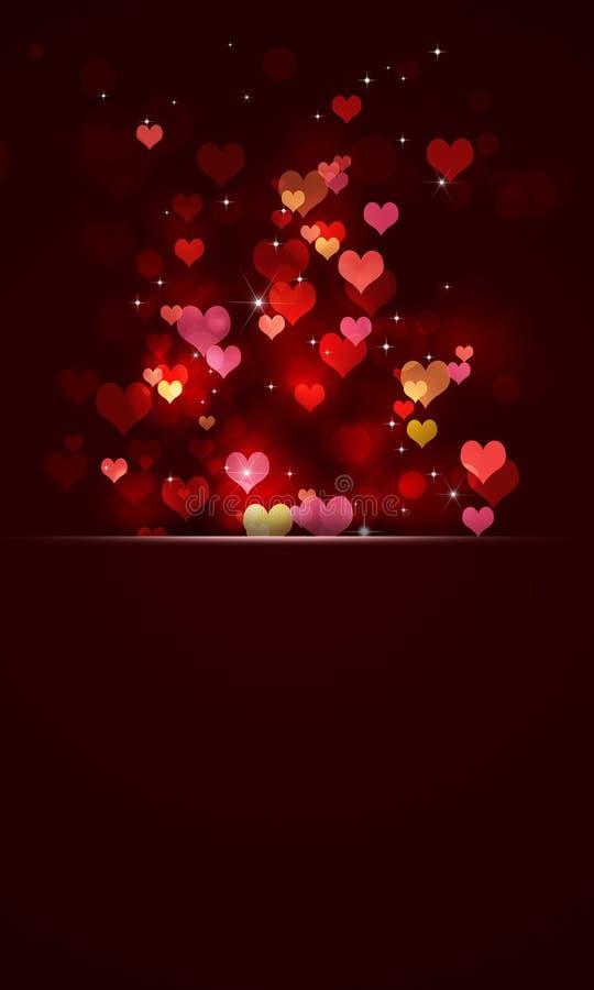 Valentine Hearts Banner stock illustrationer