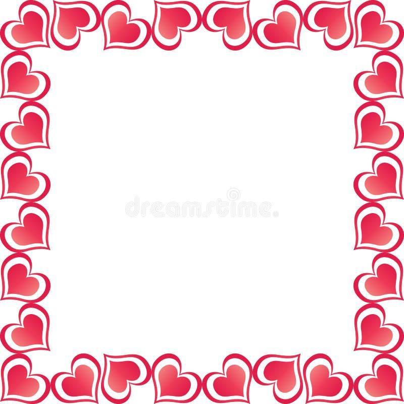 Valentine Hearts Border Free Stock Photography