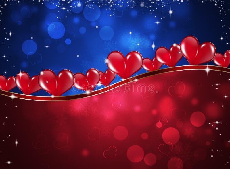 Valentine Hearts Celebration Background illustration libre de droits