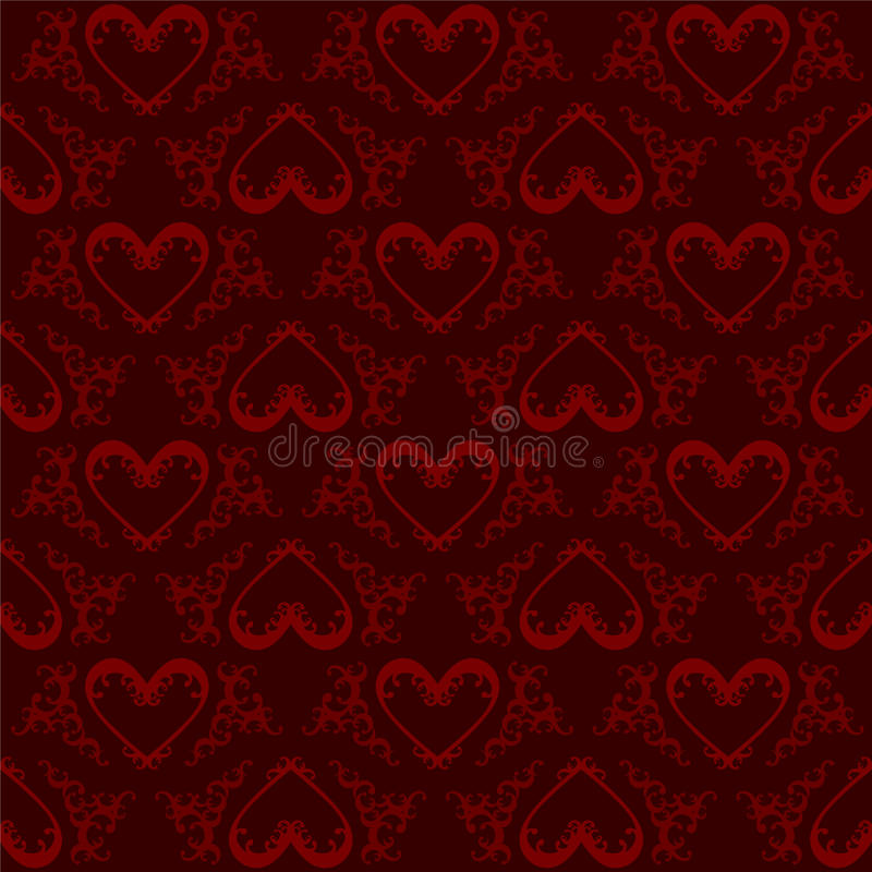 Valentine Hearts Pattern Royalty Free Stock Image