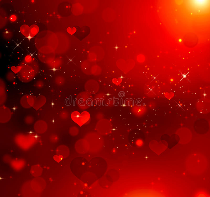 Valentine hearts red background. Valentine hearts abstract red background royalty free illustration