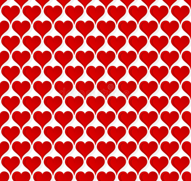 Valentine Hearts Seamless Wallpaper Stock Vector - Illustration of ...