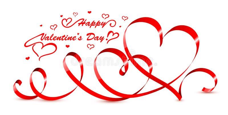 Valentine hearts. Vector illustration. royalty free stock image