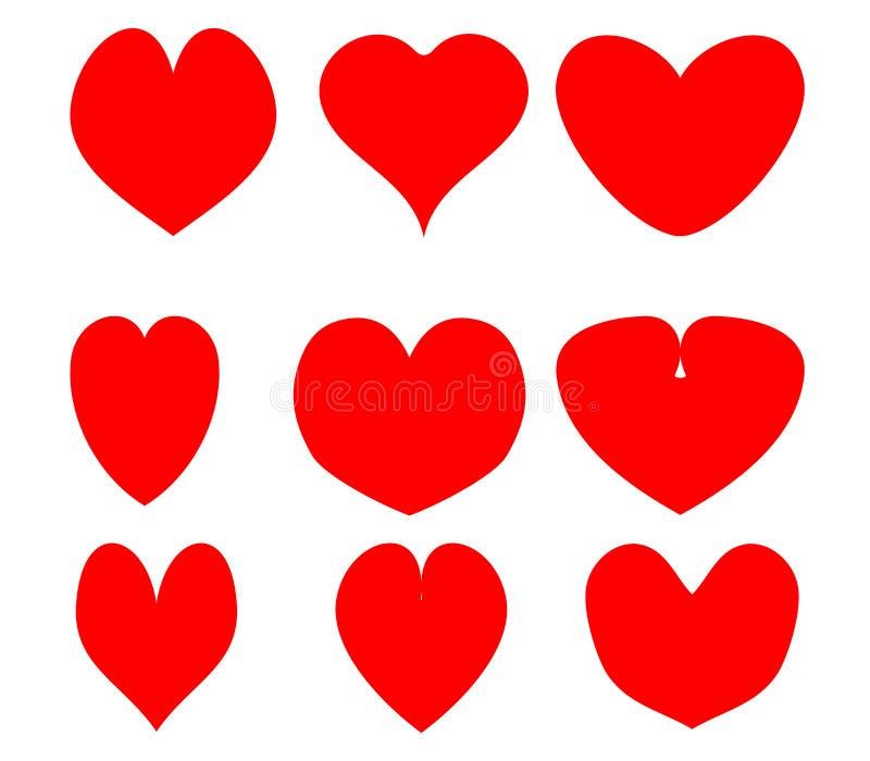 Valentine hearts. On white background stock illustration