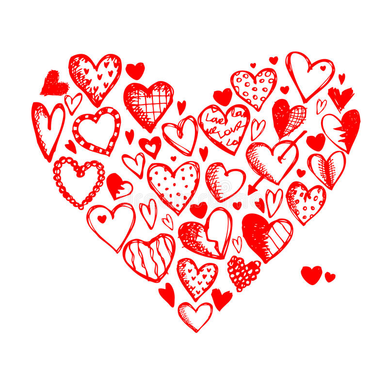 Download Valentine Hearts For Your Design Stock Vector - Image: 23516728