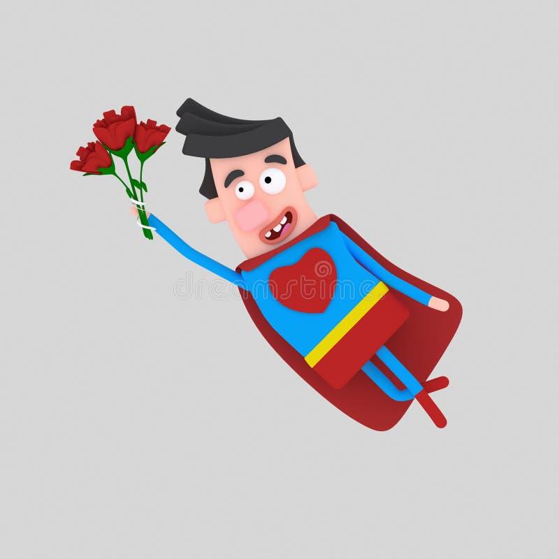 Valentine Hero estupendo 3d ilustración del vector