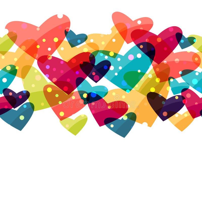 Valentine-het naadloze patroon van vakantieheilige met stock illustratie