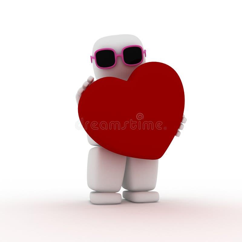 Valentine heureux illustration libre de droits