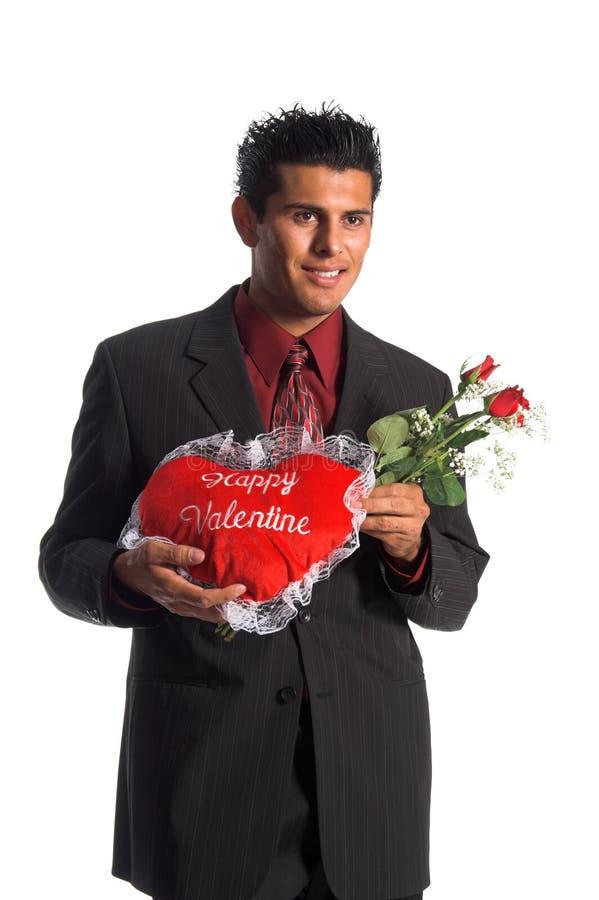 Valentine heureux photo stock