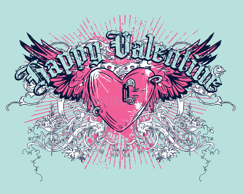 Valentine heureux illustration stock