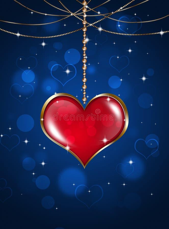 Valentine Holiday Background ilustración del vector