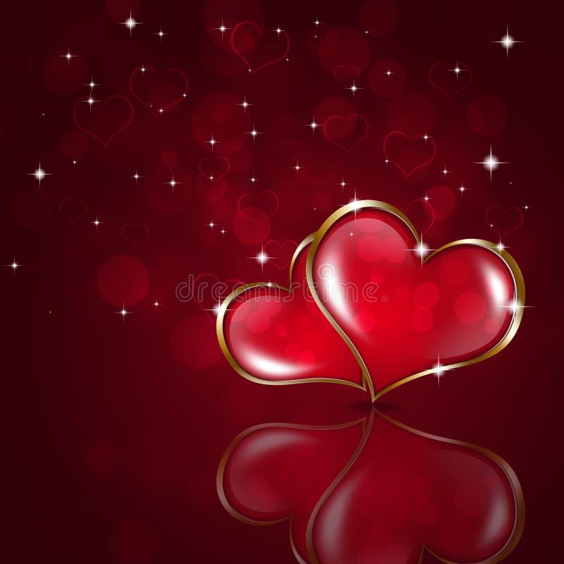 Valentine Holiday Background rojo ilustración del vector