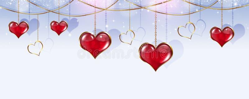 Valentine Holiday Banner stock illustrationer