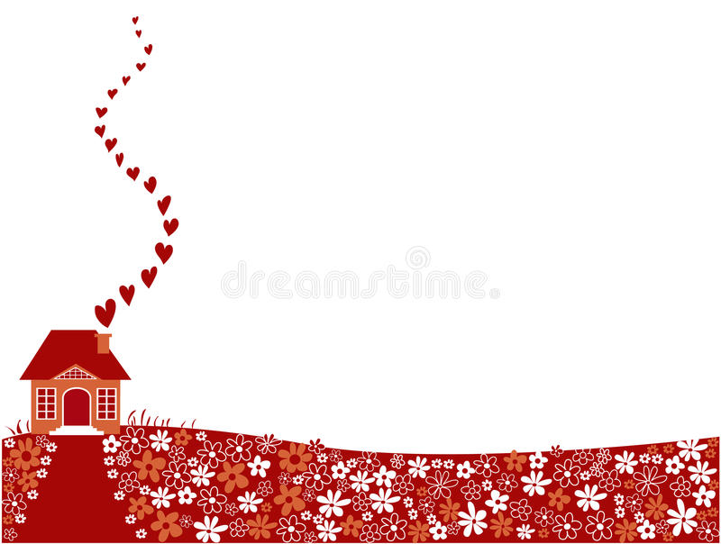 Valentine house stock illustration