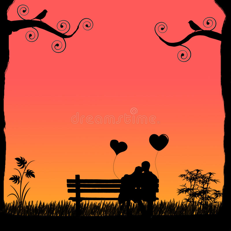 Valentine Hug ilustración del vector