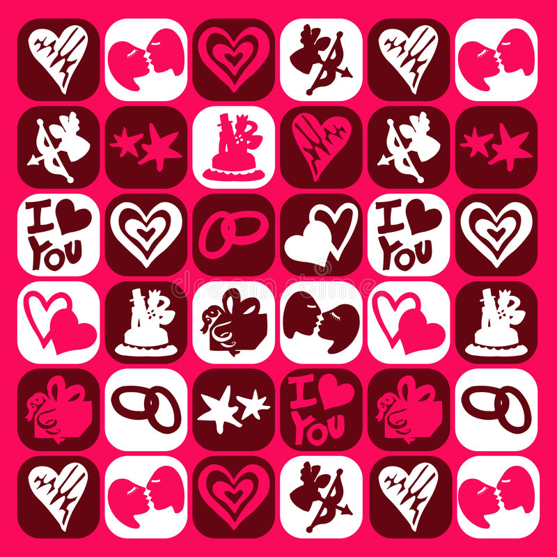 Valentine icons royalty free illustration