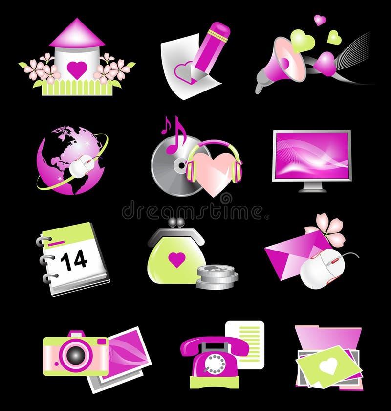 Valentine_icons_for_website ilustración del vector