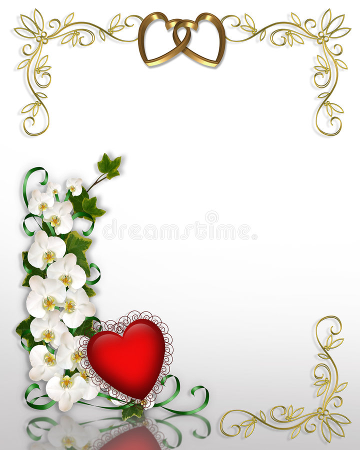 Valentine Ivy and Orchids royalty free stock photos