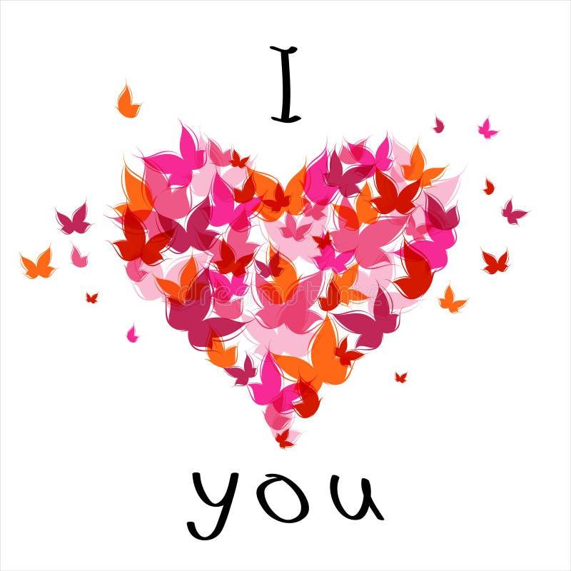 Valentine je t'aime illustration libre de droits