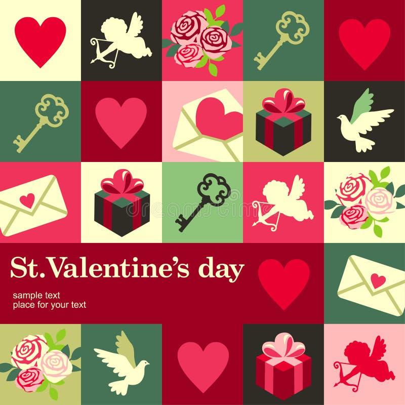 Valentine-kaart royalty-vrije illustratie