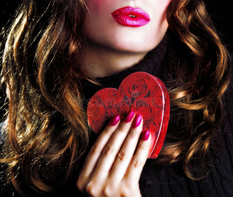 Download Valentine kiss stock image. Image of girl, attractive - 7826311
