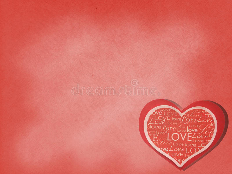 Valentine in Love Background. Red Paper Cut in Heart Like Shape Card with Various Style Love Words on Red Background. Valentine in Love Background. Red Paper Cut royalty free stock photo