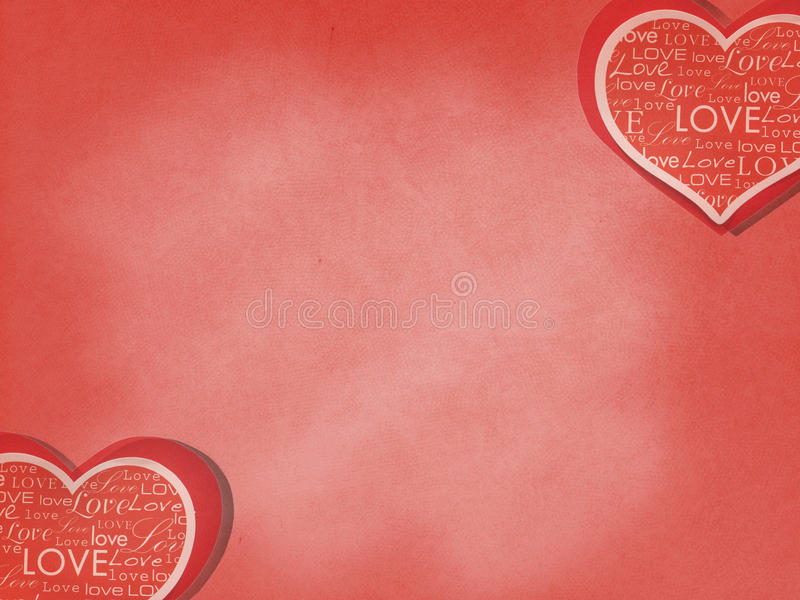 Valentine in Love Background. Red Paper Cut in Heart Like Shape Card with Various Style Love Words on Red Background. Valentine in Love Background. Red Paper Cut royalty free stock images