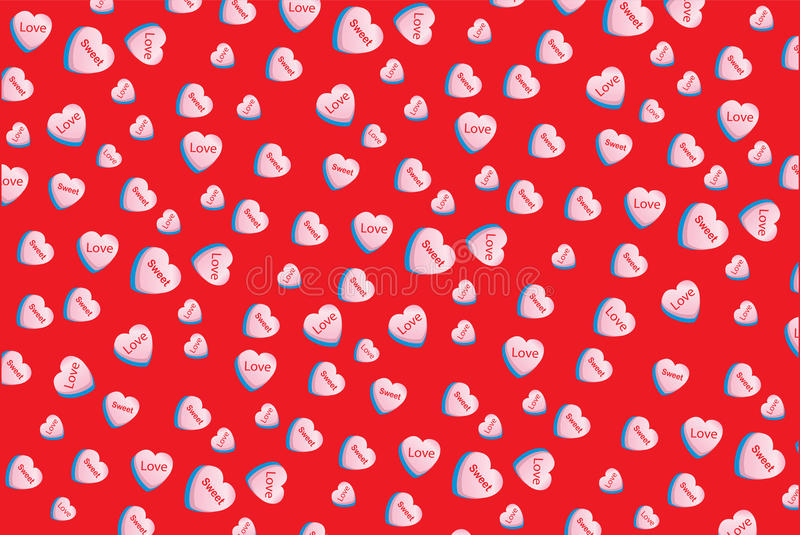 Download Valentine Love Conversation Heart Candy Wallpaper Sweet Stock Illustration