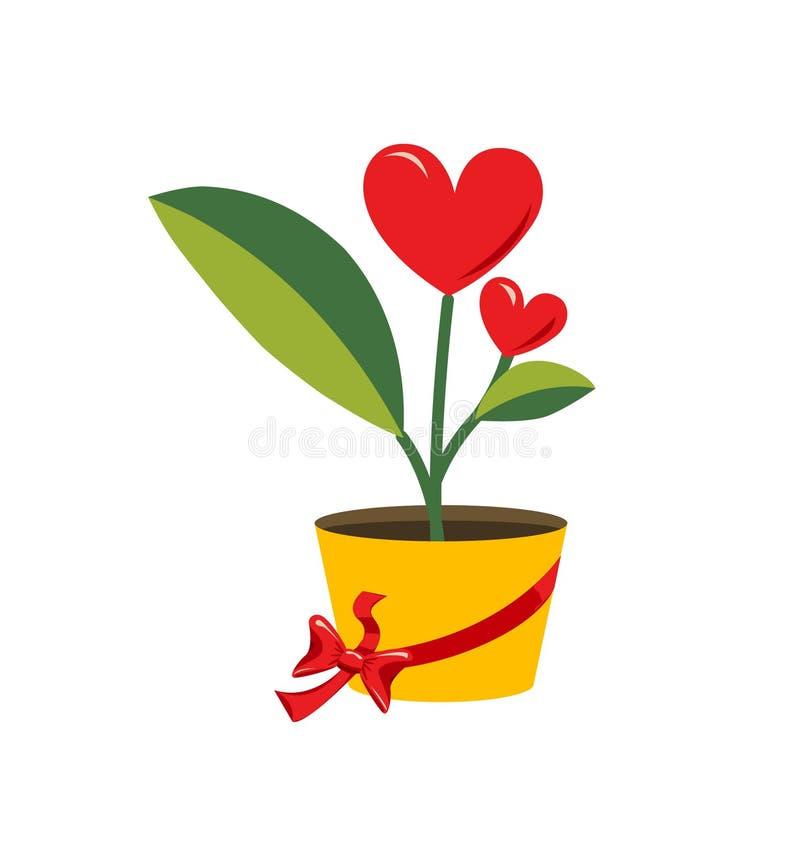 Valentine love flower stock illustration