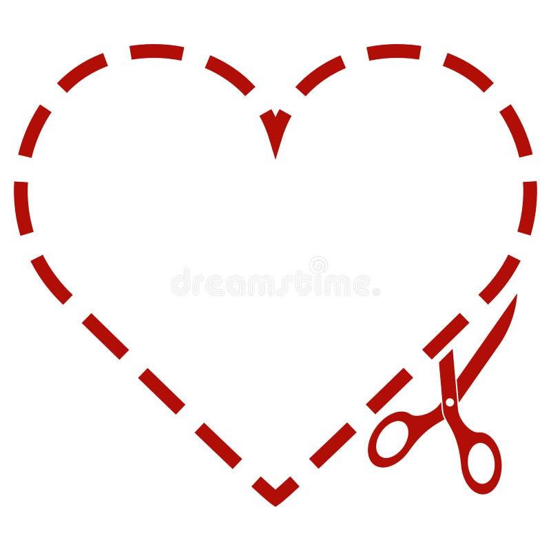 Valentine Love Heart stock illustrationer