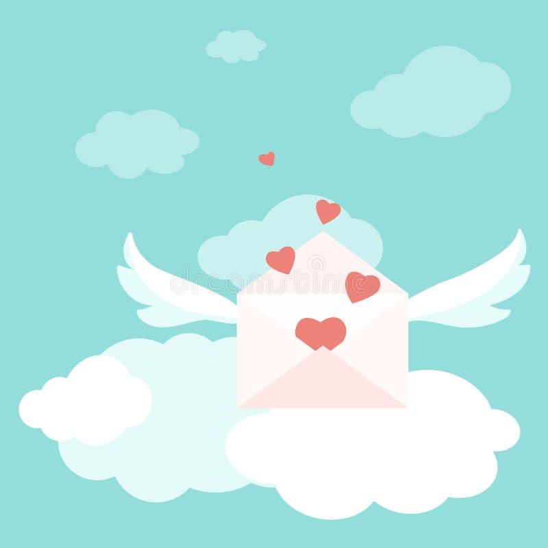 Valentine love letter envelopes wings hearts sky stock vector download valentine love letter envelopes wings hearts sky stock vector illustration of banner design m4hsunfo Images