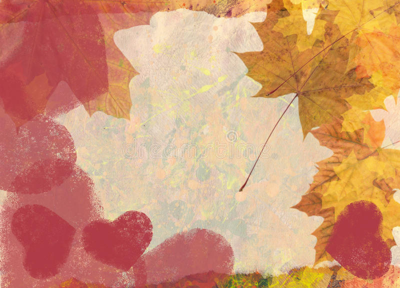 Valentine maple background royalty free stock photography