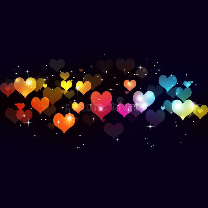 Valentine Multicolor Background vektor illustrationer
