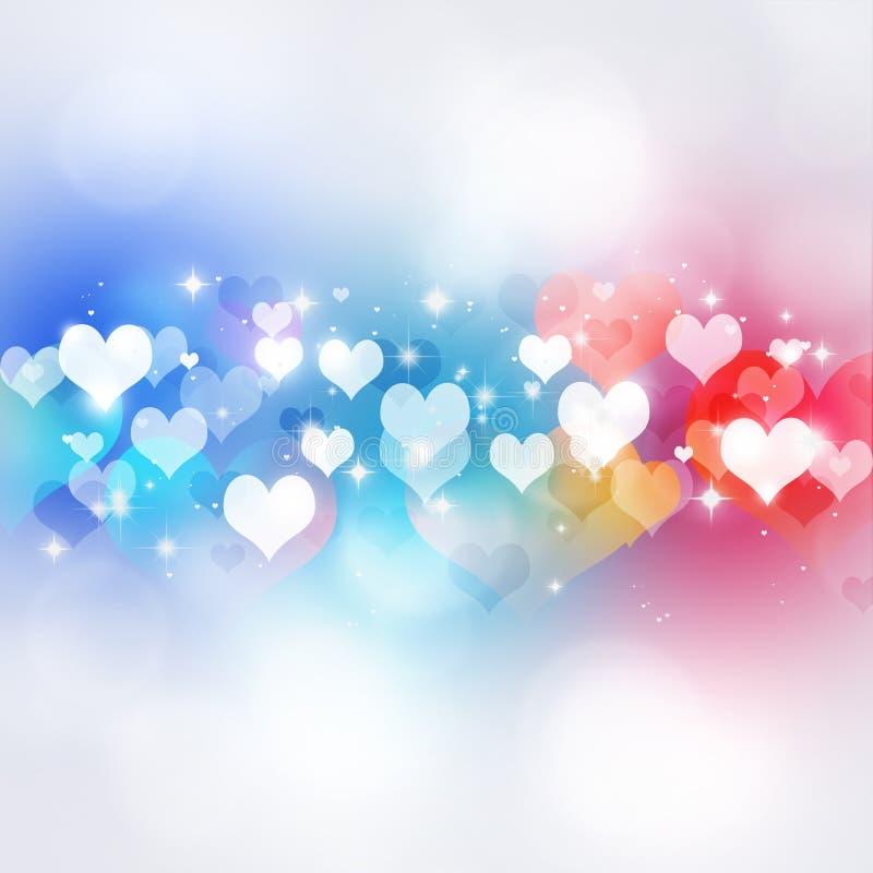 Valentine Multicolor Background royaltyfri illustrationer