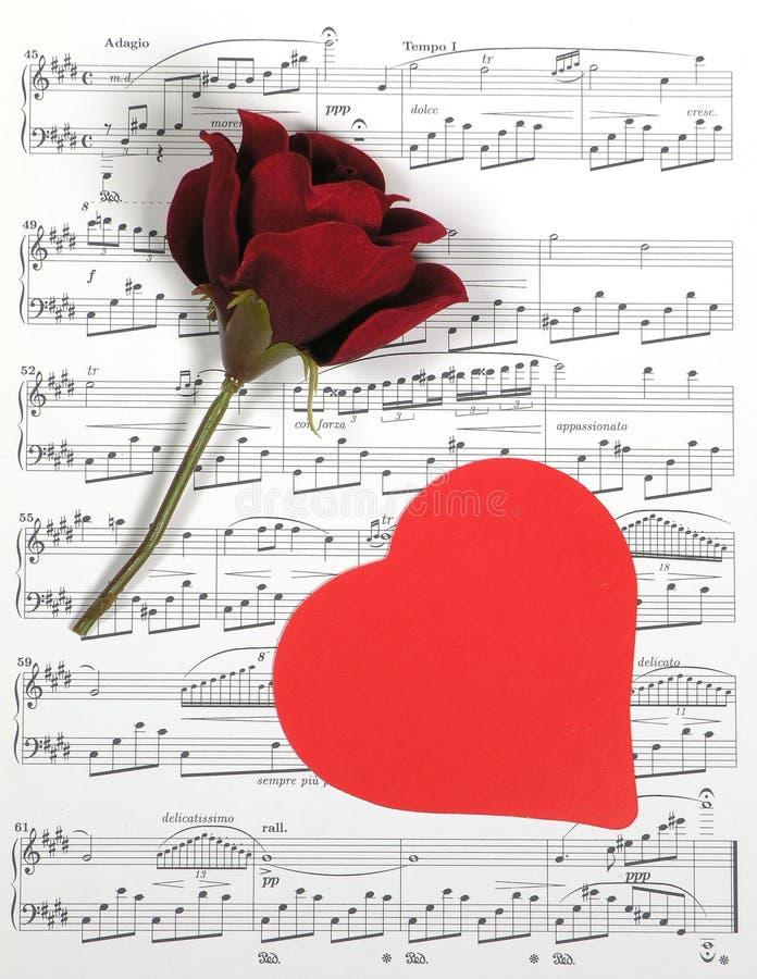 Valentine Muziek stock afbeelding