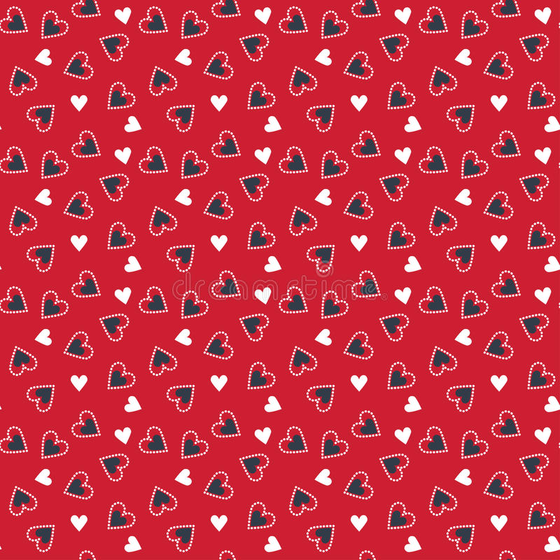 Valentine naadloze pattern1 royalty-vrije illustratie