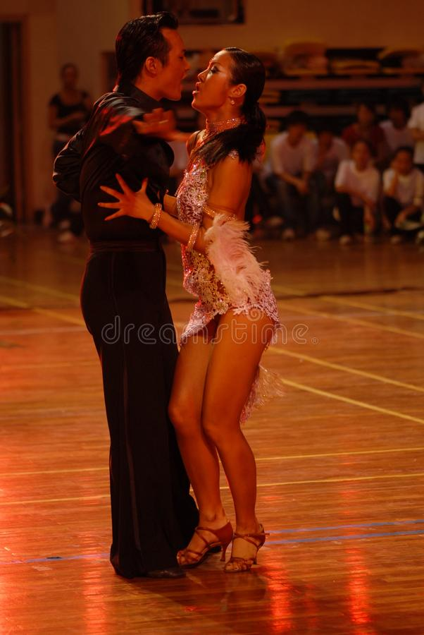 Valentine& x27; nacional de la danza del estándar internacional de s ojo-China Nanchang abierto imagen de archivo