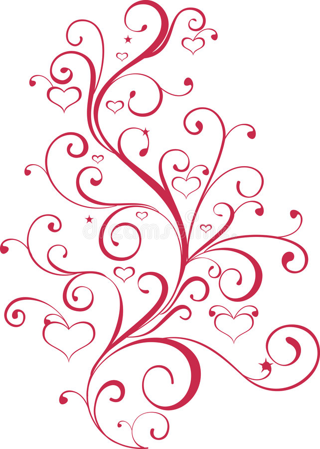 Free Valentine Ornament With Heart-shapes Stock Photo - 7779580