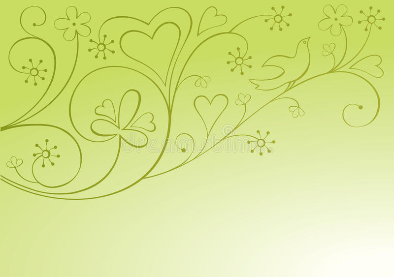 Valentine ornamental background