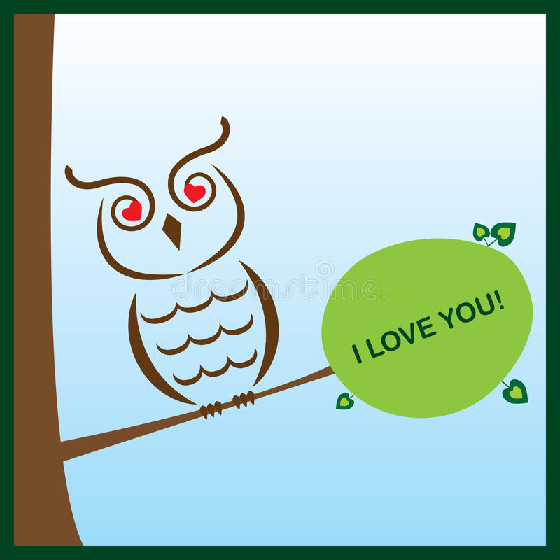 Download Valentine owl stock vector. Image of abstract, background - 28712181