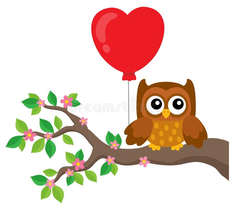 Free Valentine Owl Topic Image 5 Royalty Free Stock Photos - 103454648