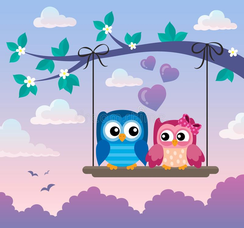 Free Valentine Owls Theme Image 5 Royalty Free Stock Photography - 85079967
