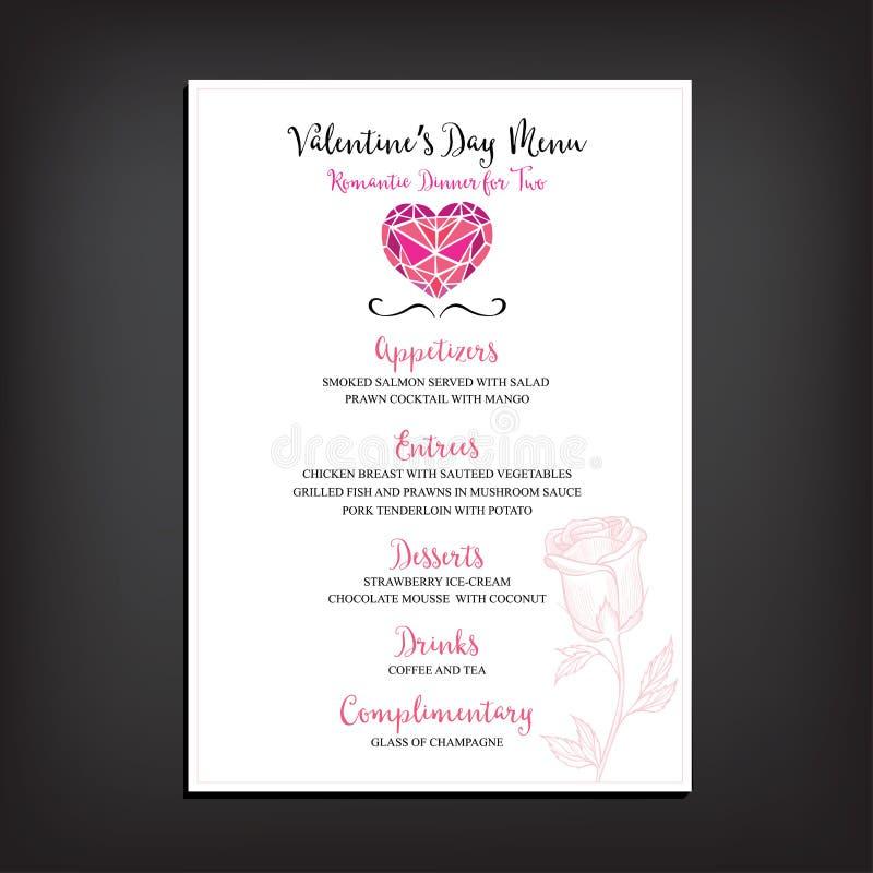 Valentine Party Invitation Restaurant. Food Flyer. Stock Vector ...