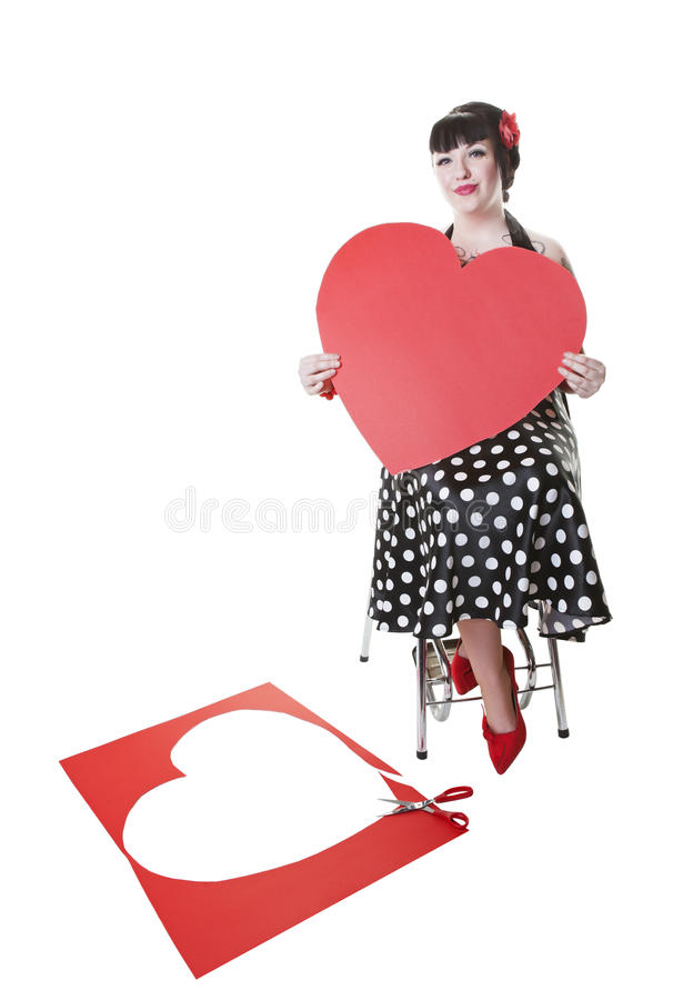 Download Valentine Pinup stock photo. Image of isolated, scissors - 23081460