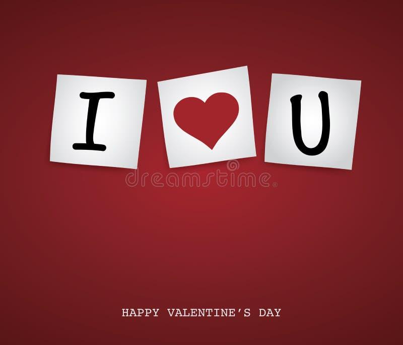 Valentine-Post-it royalty-vrije illustratie