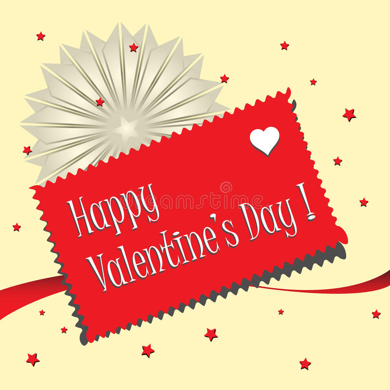 Valentine postcard royalty free stock images