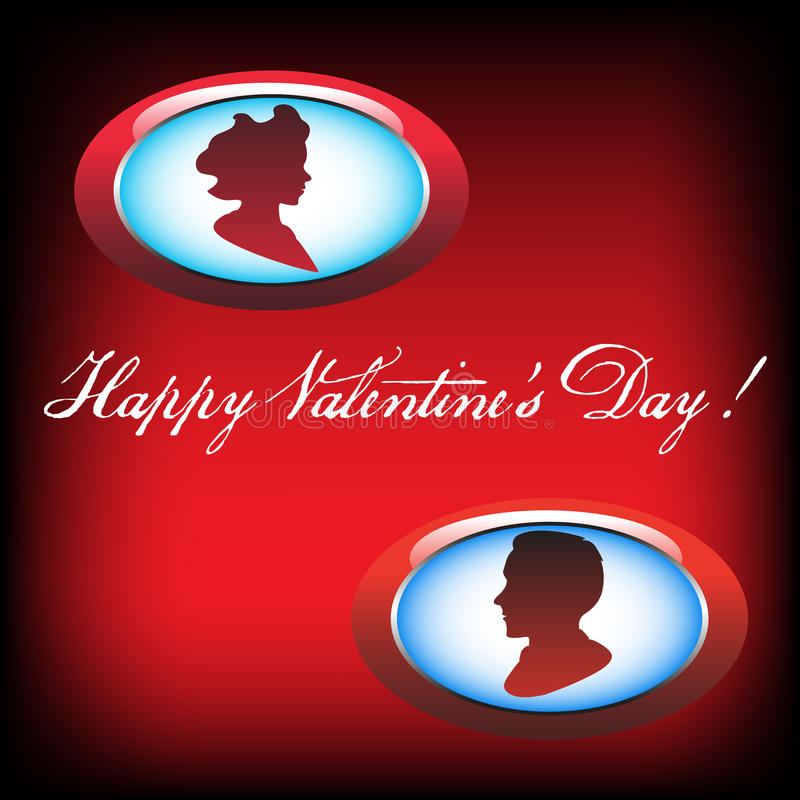 Valentine postcard royalty free stock image