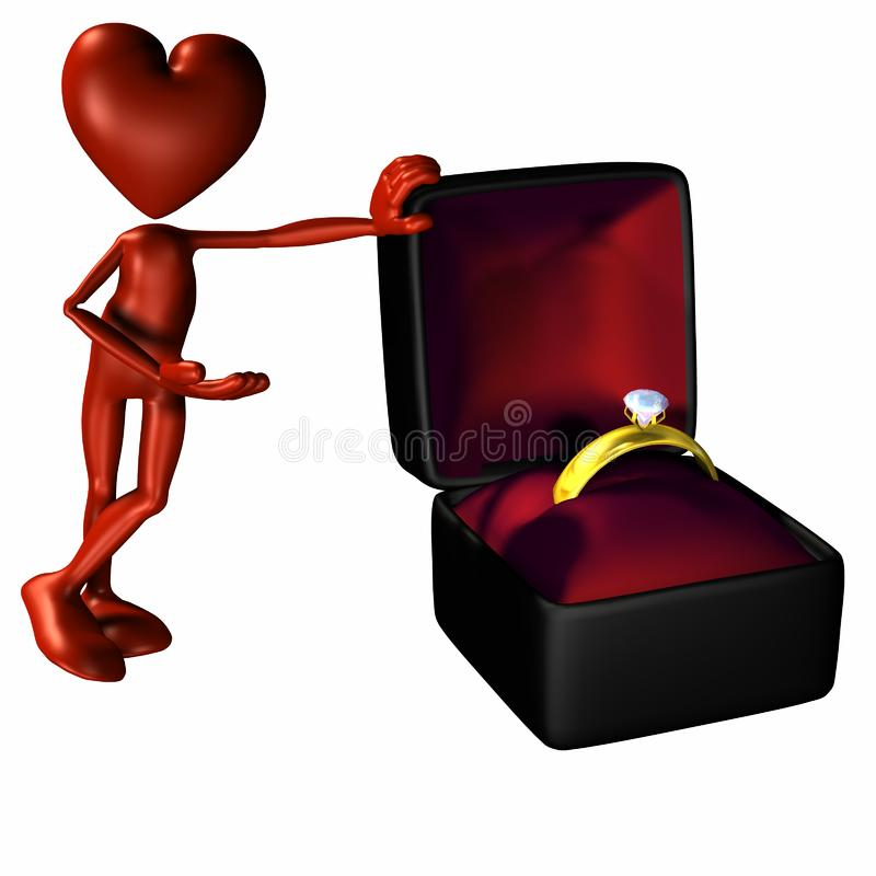 Valentine Proposal 3 Stockfotos