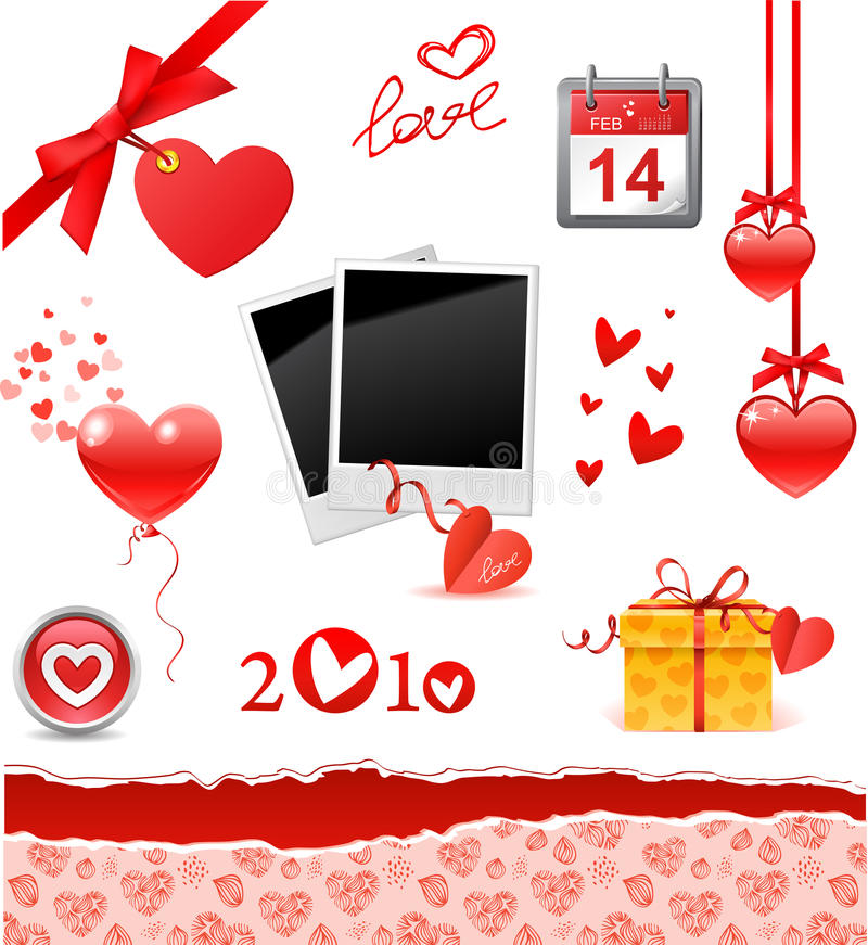Valentine réglé illustration de vecteur
