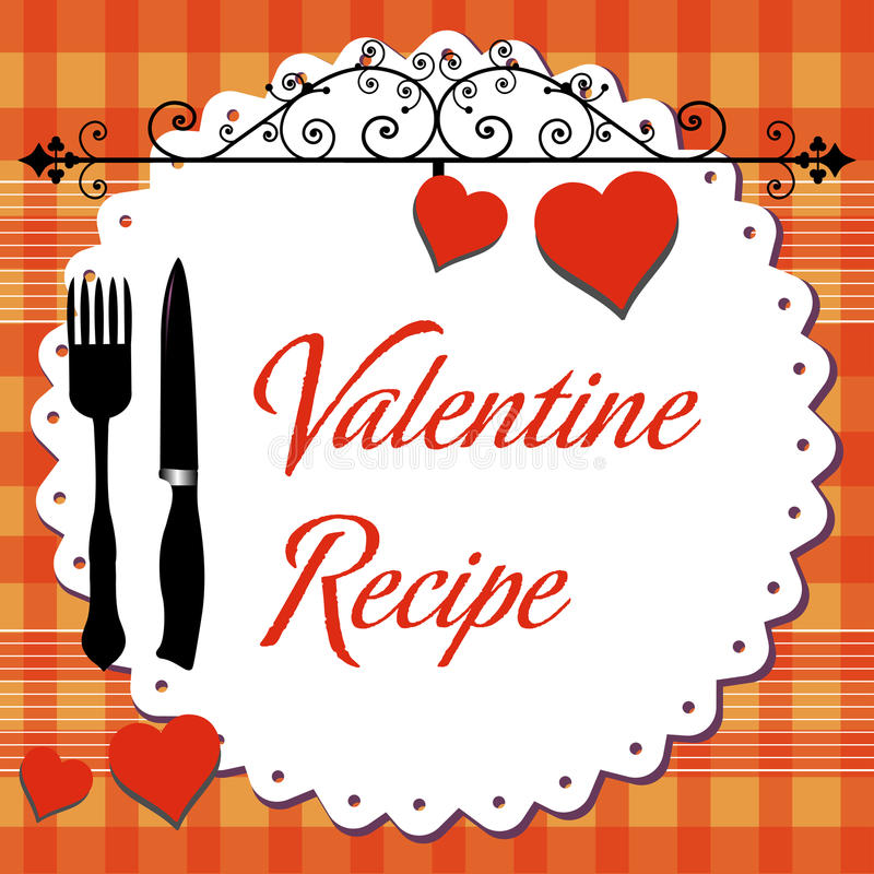 Valentine recipe stock images